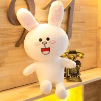 布朗小熊公仔可妮兔毛绒玩具大号抱抱熊娃娃玩偶女友生日求婚礼物 基本款可妮兔 35厘米(收藏送同款挂件)