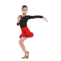 秋季新款儿童拉丁舞蹈演出表演服装长袖女童拉丁裙分体练功比赛服