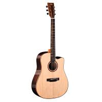 民谣吉他41寸40寸云杉木面单板木吉他初学者学生男女玫瑰木