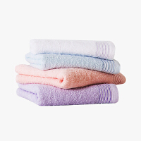 当当优品家纺毛巾套装 纯棉抗菌防臭吸水面巾4条装 35x80