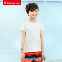 【2件2.5折价:50元】探路者儿童T恤 春夏户外男童短袖多彩棉T恤QAJG83007