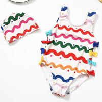 儿童泳衣女童连体游泳衣宝宝公泳裤主温泉带帽泳装