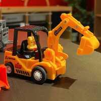 沙滩工程车儿童玩具惯性推土车铲车男孩翻斗装卸车地摊钩机挖土机