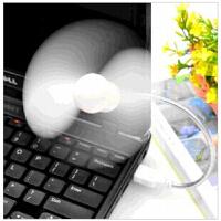 USB扭曲蛇形 大风力小风扇笔记本电脑USB移动电源小风扇 颜色随机V1305