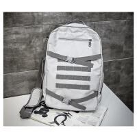 多功能双肩包方便大容量帆布运动斜跨包女韩版男旅行背包出差手提包休闲商务包