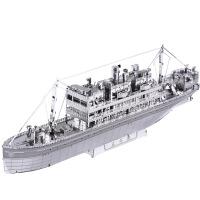 舰船3D立体金属拼图DIY创意手工玩具拼酷太平轮金属拼装模型