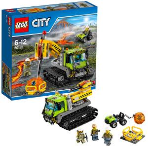 [当当自营]LEGO 乐高 City城市系列 火山探险履带式潜孔钻车 积木拼插儿童益智玩具60122
