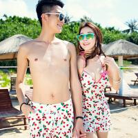 男士泳裤五分平角时尚性感个性大码宽松情侣装温泉泳衣游泳沙滩裤