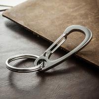 简约不锈钢男士腰挂钥匙扣创意汽车钥匙链钥匙圈环个性锁匙扣定制