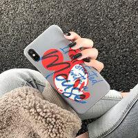 迪士尼正版授权卡通米老鼠 苹果x手机壳米奇iphone8plus街头涂鸦xs max情侣款个性7潮牌 i6/6s 迪士