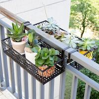 欧式阳台花架 铁艺栏杆多层悬挂式花盆架壁挂绿萝多肉花架