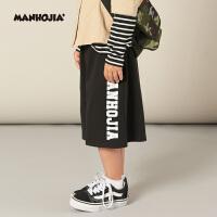 【2件2.5折:59元】MHJ漫画家童装男女童夏装儿童时尚百搭休闲裤子