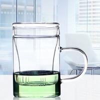 茶杯过滤带盖透明办公水杯花茶杯玻璃杯茶杯办公室花茶杯杯子带盖过滤男女士家用泡茶水杯