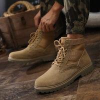 男士马丁靴男鞋高帮男雪地靴英伦加绒靴子工装鞋棉鞋冬季鞋