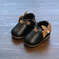冬款真皮女宝宝棉鞋1-2岁婴幼儿学步保暖靴 牛皮公主短靴子