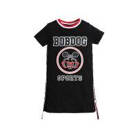 【抢购价:25元】巴布豆女童短袖T恤儿童纯色卡通T恤裙