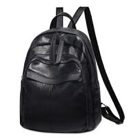 韩版时尚双肩包女士休闲旅行背包小清新书包 黑色