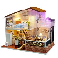 diy小屋手工创意一米阳光小房子木质拼装模型生日礼物送女生