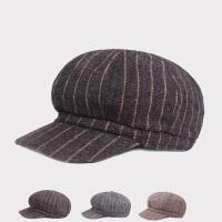 八角帽女秋冬毛呢韩版英伦格纹贝雷帽鸭舌画家帽秋天日系百搭帽子
