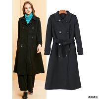 2018冬装女装有腰带双面羊毛大衣毛呢外套