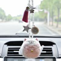 汽车挂件羊车内吊饰招财猫可爱吊坠流苏高档车载后视镜挂饰品