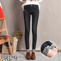 新款黑色牛仔裤女韩版九分裤弹力显瘦紧身小脚铅笔裤学生