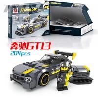 卡丁车赛车F1跑车模型6兼容乐高积木8儿童启蒙益智力拼装玩具10