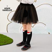 【3件7折价:209.3元】马拉丁童装女大童腰裙春装2020年新款黑色百搭儿童短裙半身裙