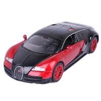 布加迪威龙车模 超跑模型1:32合金车模儿童声光回力玩具跑车仿真汽车 不加迪威龙 红色 简装