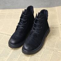 马丁靴女2018新款百搭英伦风学生秋季鞋子女生韩版短靴女平底单鞋