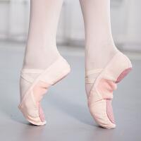 红色舞蹈鞋儿童女跳舞鞋软底练功鞋网面舒适透气宝宝小孩猫爪鞋
