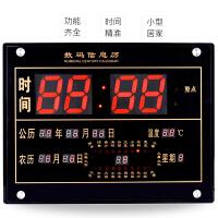 LED数码万年历电子挂钟客厅创意静音电子钟表日历24节气 钟表夜光