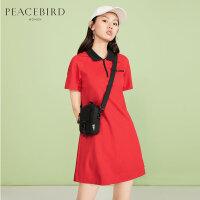 红色polo连衣裙夏季2019新款法式复古裙超仙裙子女少女裙太平鸟女