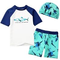 儿童泳衣男童中大童分体防晒游泳衣男孩宝宝套装