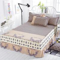 床罩2.0米x2.2米单件床套床裙式蕾丝边保护套双人1.8m床围裙夏季j