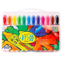 当当自营Coloyou 卡乐优 儿童工具 绘画工具 小滑油画蜡笔12色