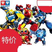 正版奥迪双钻快乐酷宝2全套玩具合体变形蛙王酷宝雷霆战宝机器人