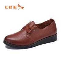 红蜻蜓女鞋秋冬皮鞋鞋子女WTB5621
