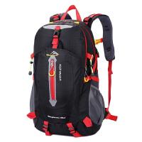 简约双肩包大容量户外旅行背包男女通用防水轻便登山包学生书包