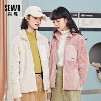 森马2020秋季新款韩版短款仿羊羔绒外套女装宽松网红ins上衣保暖