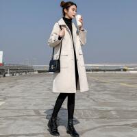 安妮纯小个子显高中长款毛呢外套女韩版学生2019秋冬季新款流行呢子大衣