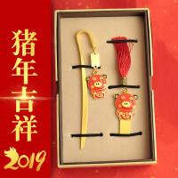 猪年吉祥物32gu盘套装 中国风金属创意公司商务礼品
