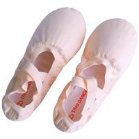 儿童舞蹈鞋女软底鞋帆布练功鞋女童跳舞弹力芭蕾舞鞋
