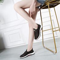 夏季老北京布鞋女鞋透气缕空网面运动鞋女休闲学生懒人网鞋妈妈鞋