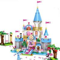 兼容乐高积木拼装女孩好朋友系列冰雪奇缘美人鱼公主城堡玩具 灰姑娘的浪漫城堡(669片)送16 灯光版