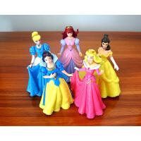 迪士尼公主摆件手办实心人偶白雪公主贝儿美人鱼灰姑娘5款