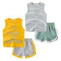 儿童背心套装纯棉薄款宝宝休闲两件套夏装童装
