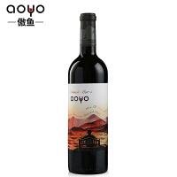 傲鱼AOYO智利原瓶进口红酒 看海5精酿佳美娜品丽珠干红葡萄酒750ml*1