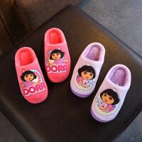 女童拖鞋女室内儿童冬季家居软底新款公主