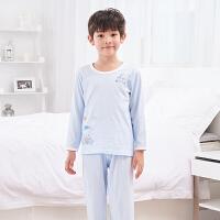 儿童睡衣夏季薄款男孩家居服春秋男童空调服中大童长袖套装
